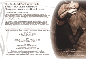 Lucia Horan Nov 17-18 5Rhythms Workshop Flyer