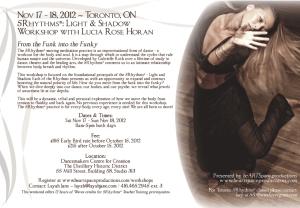 Lucia Horan Nov 17-18 5Rhythms Workshop Flyer
